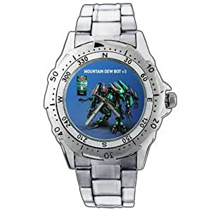 epsp379 mountain dew robot stainless steel wrist watch