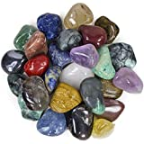 "2 Pounds Brazilian Tumbled Polished Natural Stones Assorted Mix - Medium Size - 1"" to 1.5"" Avg."