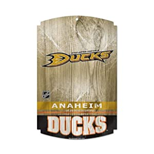 Anaheim Ducks 11X17 Wood Sign