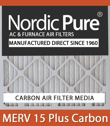 Nordic Pure 20x20x4M15C-2 MERV 15 Plus Carbon AC Furnace Air Filters Qty 2 at Sears.com