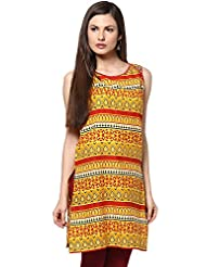 Indi Dori Women's Cotton All Over Printed Kurti With Sequins