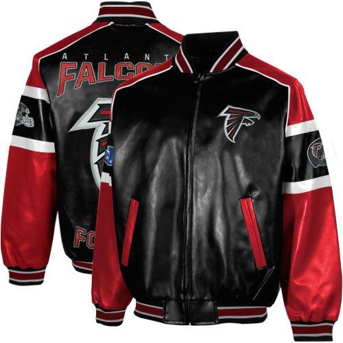 Nfl Atlanta Falcons Post Game Pleather Jacket Blackred Xx Large