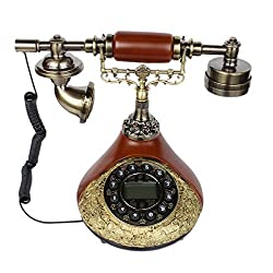 Vintage Old Style Corded Landline Telephone - 1m216 - With Caller ID
