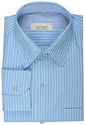 Koutons Men's Formal Shirt (HD-103--40, Blue, 40)
