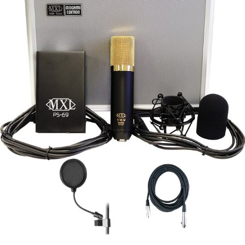 Mxl V69 Me Mogami Edition Tube Studio Condenser Mic W/Free Mic Cable And Pop Filter