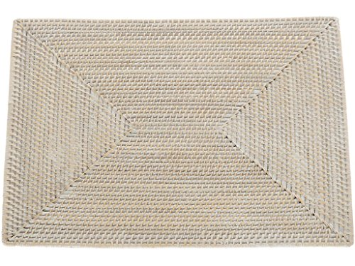 Kouboo Laguna Rectangular Rattan Placemat Whitewash