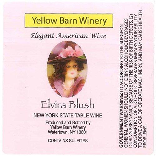 """Nv Yellow Barn Winery """"Elvira Blush"""" Rose 750 Ml"""