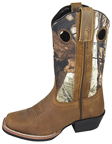 Smoky Mountain Child's MESA Square Toe Boot 1R Brown