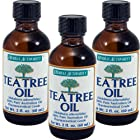 100% Pure Tea Tree Oil Herbal Authority (Was Good 'N Natural) THREE 2 oz Bottles