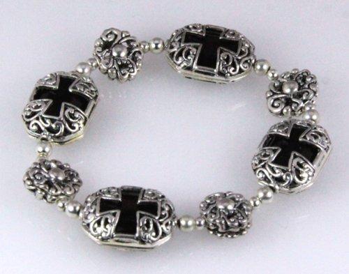 4030315 Cross Bracelet Christian Religious Antique Estate Appearance