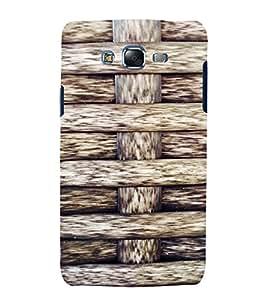 PrintVisa Criss Cross Wooden Pattern 3D Hard Polycarbonate Designer Back Case Cover for Samsung Galaxy J7
