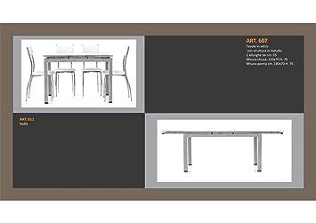 Table Structure en métal 1Longueur et 2allungamenti et chaise assortie Monteriggioni 29 Tavolo Cm 120x80 h cm 76 + 1 Allung. 60 cm Art 607