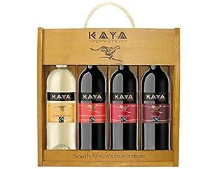 Kaya Weinpaket Südafrika mit Holzkiste (4 x 0.75 l)