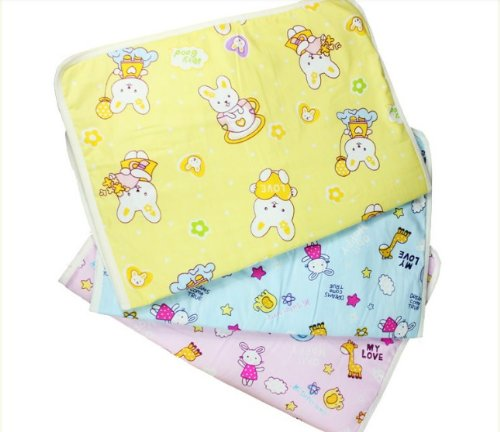 Niceeshop(Tm) Baby Infant Reusable Cotton Cloth Waterproof Urinal Pad Cover/Mat/Mattress Pad-Middle Size front-52349