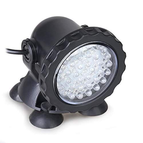 kohree underwater 35w 36 led submersible spot light for water aquarium garden pond fountain tank multicolor home decor fountains ponds - Spot Led Multicolore