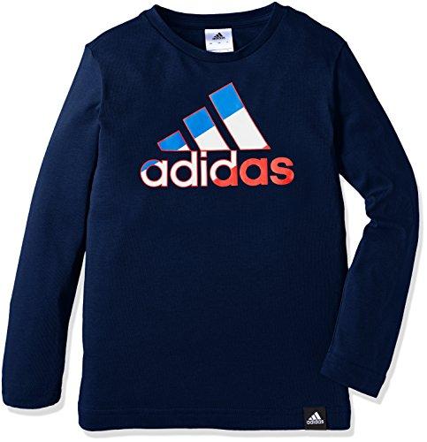 (アディダス)adidas トレーニング カントリー ビッグロゴ 長袖Tシャツ BUE76 [ボーイズ] AZ6656 カレッジネイビー J140