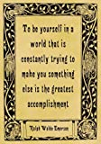 A4 Size Parchment Poster Quotation Ralph Waldo Emerson Be Yourself