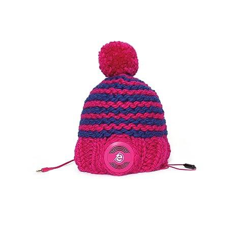 Earebel eRH100301 bonnet  Unisexe tricoté main avec Casque AKG amovibles, rayé multicolore