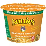 Annie's Microwavable Mac and Cheese Cup, Real Aged Cheddar Macaroni and Cheese, 2.01 Ounce (Pack of 12)
