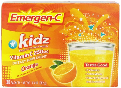 Emergen-C Kidz Orange, 30-Count (9.9 Oz Total)
