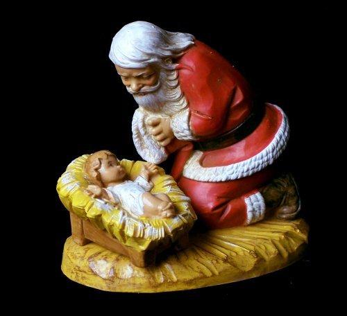 Fontanini Santa Kneeling with Christ Child FigurineB0000CFYMI