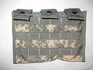 Buy Military Surplus ACU MOLLE 3 Triple MAG 30 Round Pouch Black Dot by USGI Government contracters