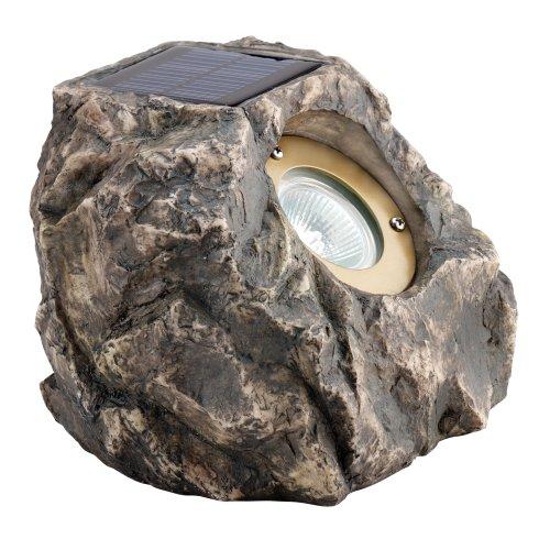 buy malibu solar resin rock flood landscape light with three white led