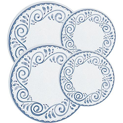 Corelle Coordinates Oceanview Economy Burner Covers, Set of 4