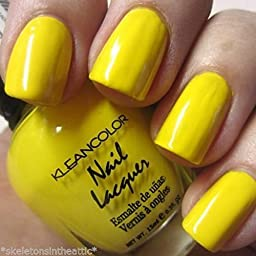 1 New Kleancolor Neon Yellow Nail Polish by Home Comforts