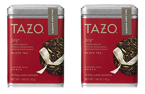 Tazo Joy Black, Green & Oolong Full Leaf Tea (2 Tins - 30 Sachets)