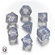 Elvish Dice Transparent/Blue (7)