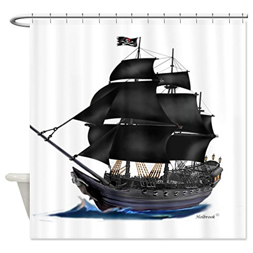 Best pirate ship shower curtain for the bathroom decor