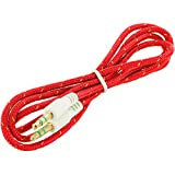JYARA Fabric Woven Braided 3.5mm To 3.5mm Universal AUX TangleFree Auxiliary Cable For Car Stereo,Mobile Phones,CD,MP3,DVD,MP4 Players 1.5m Long Colorful Tangle Free. Compatible With VIDEOCON A51