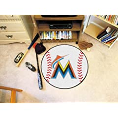 MLB - Miami Marlins Baseball Rug by Fanmats