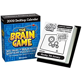 Brain Game 2009 Desktop Calendar