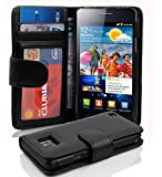 Cadorabo ! Etui Housse Coque en simili-cuir Samsung Galaxy S2 I9100 im Bookstyle with Cardslots in noir