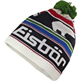 Eisbär Rosco Pompon, Unisex Winter Cap, white/black/multicolor, One Size