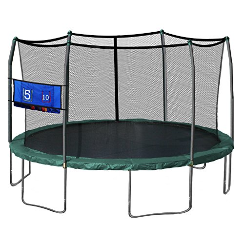Skywalker-Trampolines-Oval-Trampoline-with-Enclosure-and-Double-Toss-Game-Green-16