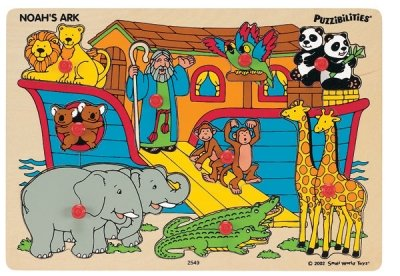 Cheap Small World Toys Noah's Ark Wooden Peg Puzzle (B000LZCJRQ)