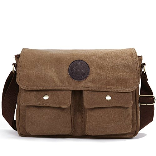 eshow-mens-british-style-retro-casual-canvas-cross-body-messenger-traval-shoulder-bagbrown