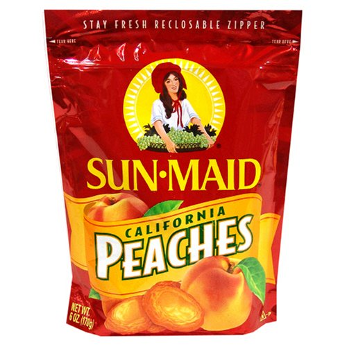 Buy Sun Maid Peaches, 6-Ounce Bags (Pack of 6) (Sun Maid, Health & Personal Care, Products, Food & Snacks)
