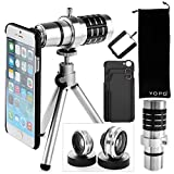 YOPO Camera Lens Kit for iPhone 6 6s Plus -Telephoto Lens+Fish Eye+Macro & Wide Angle Lens