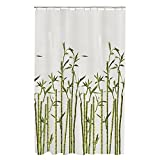 Maytex Bamboo Photo Real PEVA Vinyl Shower Curtain