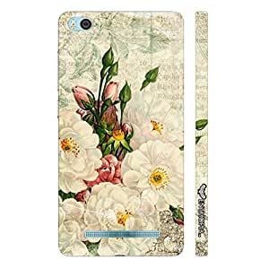 Xiaomi 4i WHITE FLOWER TOUCH designer mobile hard shell case by Enthopia