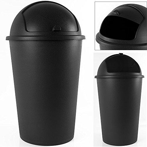 Poubelle 50 litres - couvercle basculant - 68cm X 40cm