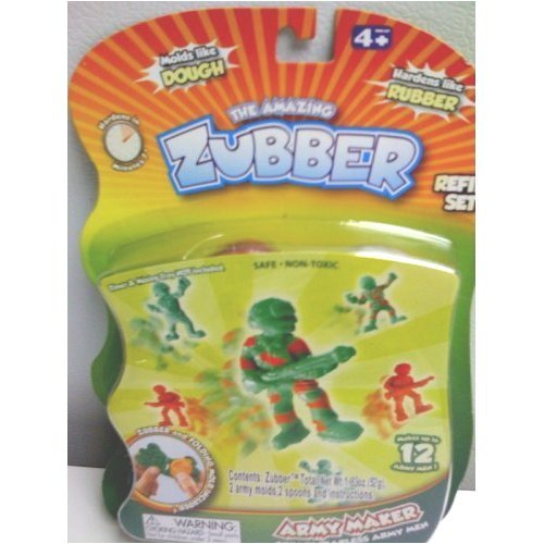 Army Men Maker Kit The Amazing Zubber Refill Play Set