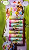 Disney Fairies Flavored Lip Balm Set - 8 Pack Includes Keychain