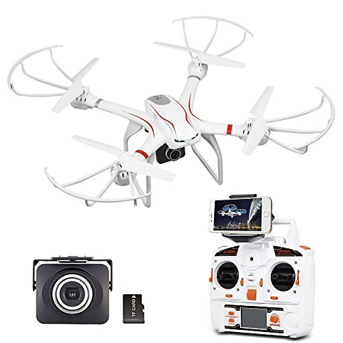 MJX X101C WIFI FPV Drone Con Telecamera HD 720P DBPOWER Live Video Quadricottero Con Scossa Attenuatore Compatibile Con Auricolare VR