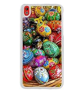 Colourful Ester Eggs 2D Hard Polycarbonate Designer Back Case Cover for HTC Desire 816 :: HTC Desire 816 Dual Sim :: HTC Desire 816G Dual Sim