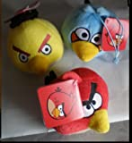 Rovio [Set of 3] Angry Birds Plush; Red, Yellow and Blue